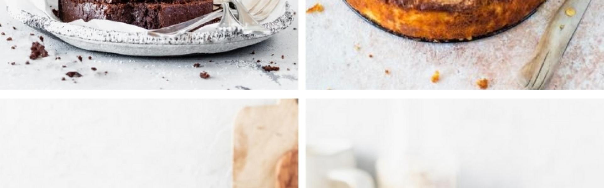 Gedeckte Kaffeetafel mit glutenfreien Kuchen