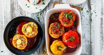 Gefüllte Paprika? Nur noch vegetarisch!