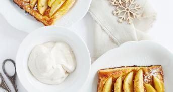 Schnelle Apfel-Blätterteig-Taschen mit Marzipan