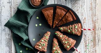 Ganz einfache Brownie-Tannenbäume