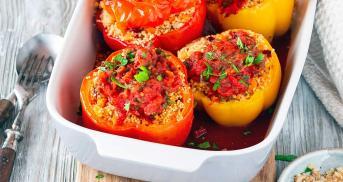 Gefüllte Paprika mit Couscous Orient-Style