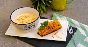 Gegrillte Ananas mit Kokoscreme und Macadamia