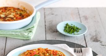 Schnelle Frittata mit Lieblingsgemüse