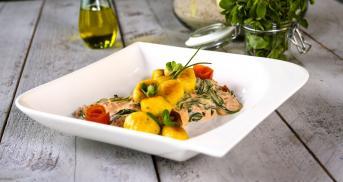 Pfannengericht at its best! Mit Gnocchi und viel Gemüse
