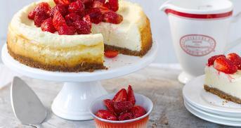 Cheesecake mit Crème fraîche
