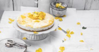 Frischkäse-Pfirsich-Swirl-Kuchen ohne Backen