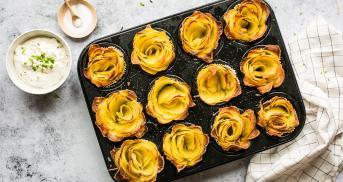 Wenn du richtig beeindrucken willst: Kartoffelrosen