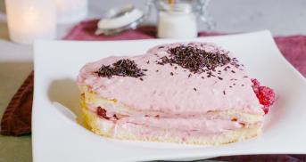 Kleiner Valentins-Herzkuchen