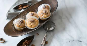 Kürbismuffins mit Pekannüssen