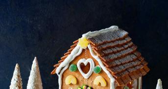 Lebkuchenhaus mit Schablone und vielen Tipps