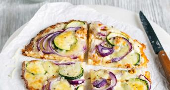 Low Carb Pizza mit Quark