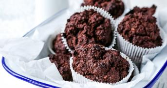 Low Carb Schoko-Mandel-Muffins