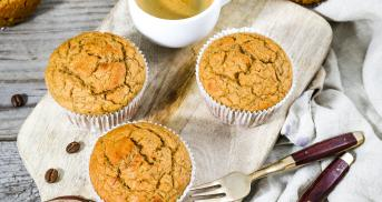 Low Carb Vanille-Espresso-Muffins