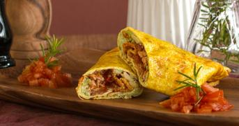 Low Carb Wraps mit Pulled Chicken