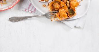 Pastamuffins mit Brokkoli und Pilzen