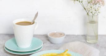 Pfannkuchen ohne Ei, aber goldbraun und knusprig