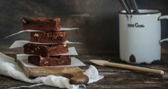 Schokoladen-Brownies mit Dulce de Leche