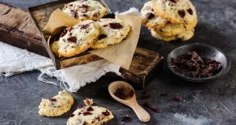 Schokoladen-Muskat-Cookies