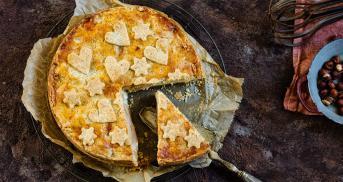 Haselnuss-Birnen-Pie