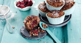 Vegane Schoko-Kirschmuffins
