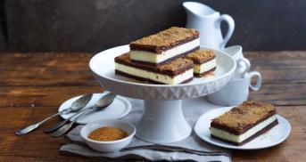 Frischkäse-Schokoladen-Riegel