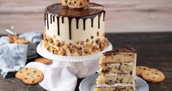 Cookie oder Torte? Mach Chocolate Chip Cookie Cake