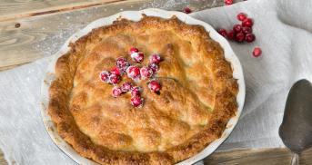 Cranberry-Birnen Pie