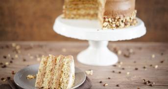 Cappuccino-Torte mit Nutella