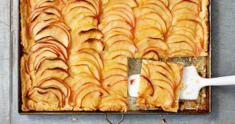 Französischer Apfelkuchen - der Klassiker vom Blech