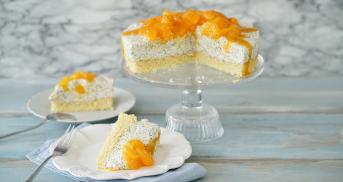 Fruchtige Mandarinen-Quark-Torte