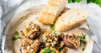 Gefüllte Champignons mit Gorgonzola