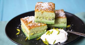 Magic Pistachio Cake
