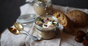 Maronensuppe mit Steinpilzbrötchen