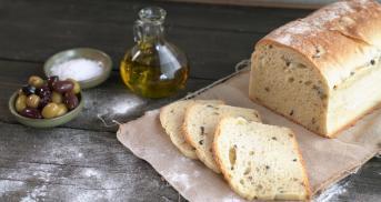 Schnelles Olivenbrot