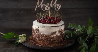 Schwarzwälder Hochzeitstorte als Naked Cake