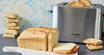 Brot kaufen? Dieses Toastbrot Rezept ist besser!