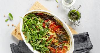 Low Carb Tomate-Mozzarella-Auflauf