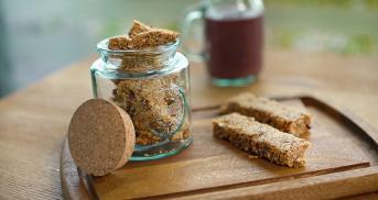 Erdnussbutter-Müsliriegel