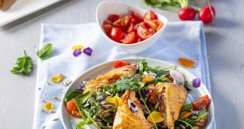Spargel in Blätterteig mit Schinken und Käse