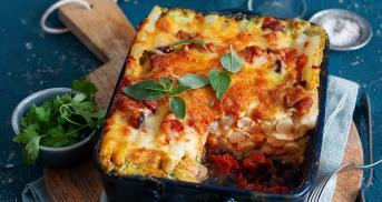 Spargellasagne mit Pancetta und Mascarponesoße
