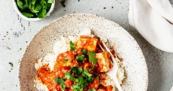 Tofu Tikka Masala so lecker wie das Original