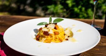 Vegetarische Carbonara nach italienischem Rezept