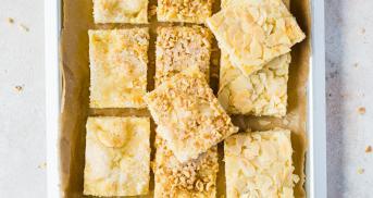 Saftigster Zuckerkuchen mit dreierlei Topping