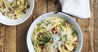 Die original Spaghetti Carbonara Zutaten