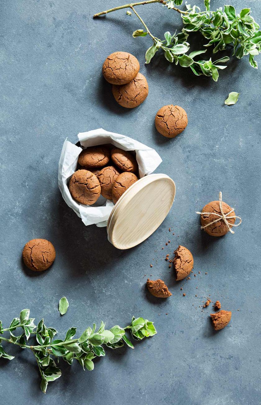 Nutella-Plätzchen in einer Keksdose.