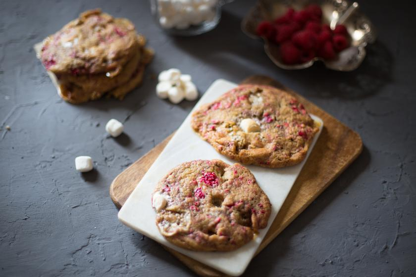 Himbeer Marshmallow Cookies