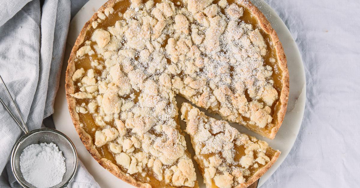 Apfelmuskuchen Mit Streusel In 10 Minuten Im Ofen