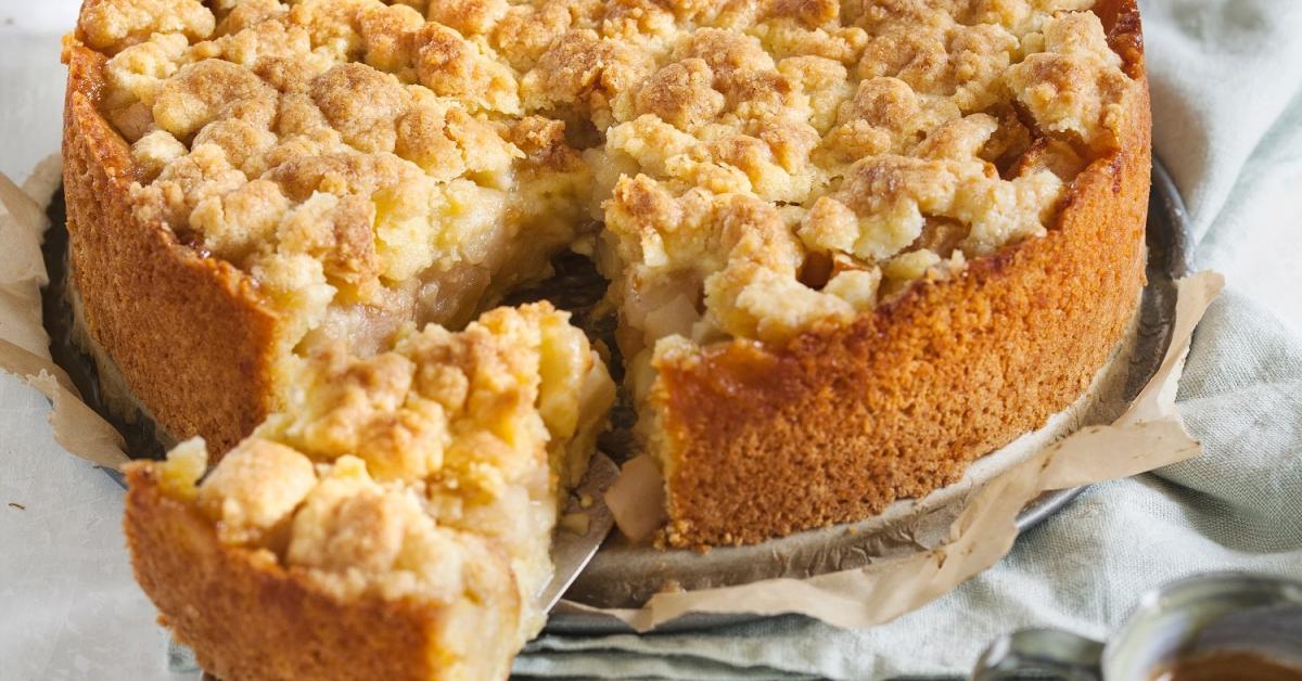 Apfelstreuselkuchen Von Oma Mit Richtig Knusprigen Streuseln